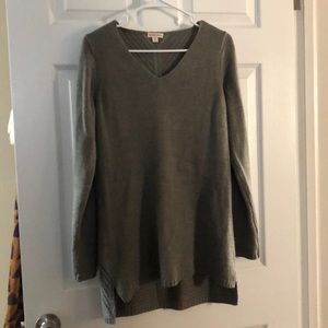 Merona gray tunic sweater S